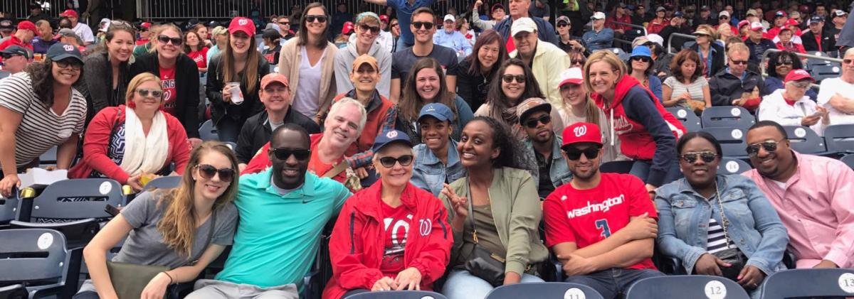 Council Staff at Washington Nationals Game
